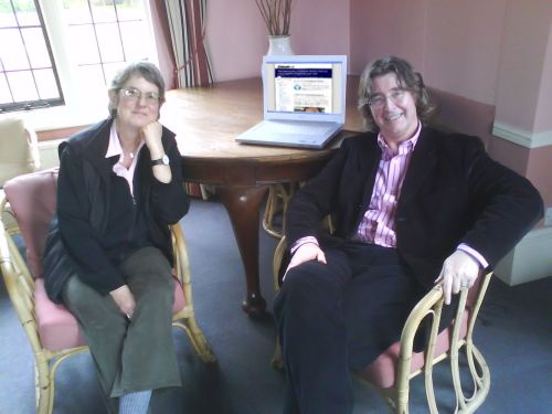 Professor Jane Caplan and Dr Edward Higgs in the history faculty common room at the University of Oxford